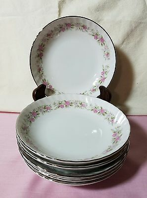 Set Of 6 Dansico Fine China Dessert Bowls In The Teahouse Rose Pattern, Japan