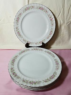 "Set Of 4 Dansico Teahouse Rose Pattern Japan Fine China 10 3/8"" Dinner Plates"