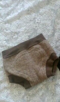 Wool Diaper Cover Neutral Brown Unisex Medium