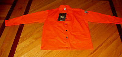 "Black Stallion FO9-30C 30"" 9oz. Orange Cotton Welding SAFTEY Jacket size M NWT"