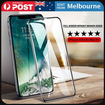 Tempered Glass Full Glue Screen Protector Apple iPhone X Xs Max Xr 8 7 6s 6 +