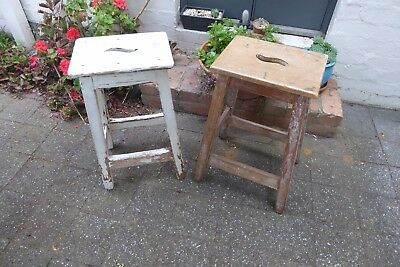 Pair of Early Australian  timber Stools