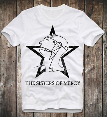T Shirt The Sisters Of Mercy Goth Gothic Rock Post Punk Retro Vintage Logo Star
