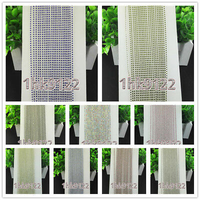 SS6,A Grade Colorized Glass Crystal Rhinestones,Clear White Trim Plastic Chain