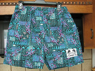 1990s vintage Hawaiian Baggy shorts new without tags Lizards print