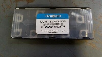New 10 Pcs CCMT 32.51 C550 Tracker Solid Carbide Inserts *UNCOATED* 40128