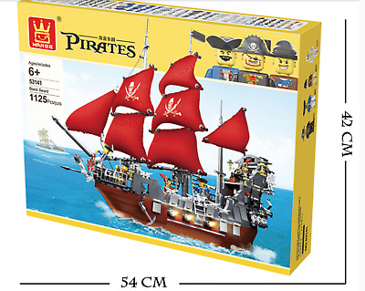 Wange 53041 Black Beard pirate ship,new,ship from Syd,LEGO fit,with box
