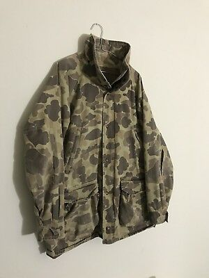 Vintage Columbia Goretex Duck Camo Jacket Size L Hunting Shooting Distressed
