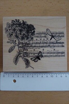 rubber stamp shabby chic, butterfly wooden stamp