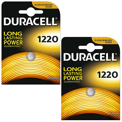 2X 1 Duracell CR1220 3v Lithium Coin Button Cell Battery 1220 DL1220 BR1220