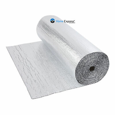 Double Foil Single Bubble Wrap Aluminum Insulation Roll 1.2m x 25m Attic Roof