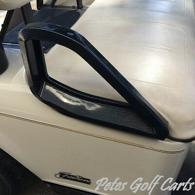 Ezgo Golf Cart Seat Handle Covers Carbon Fiber Fits 1994 and Up TxT Old Style