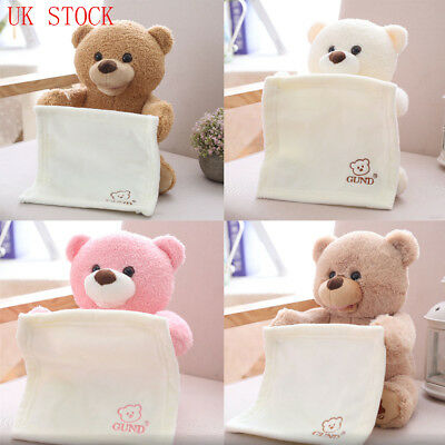 Peek-A-Boo Teddy Bear Toddler Kids Children Child Play Soft Toy Plush Blanket UK