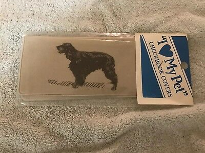 NEW VINTAGE Gordon Setter CHECKBOOK COVER in Original Wrapping