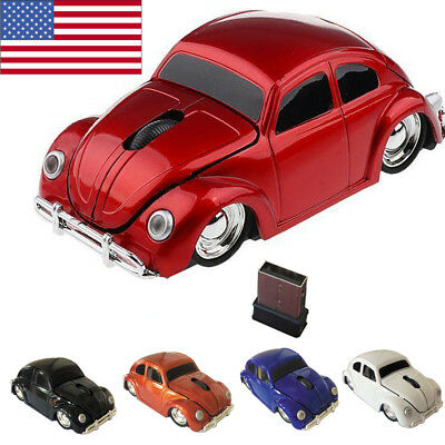 1967 S 24GHZ Wireless VW beetle car optical mouse Mice for PC/Laptop Xmas gift