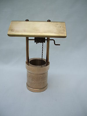 vintage antique European unique  hand made folk art  bronze/brass wishing well
