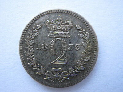 1833 Maundy Twopence EF