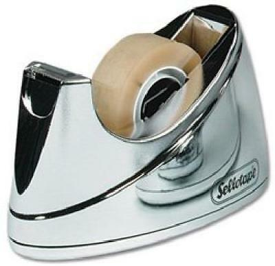 Sellotape Small Chrome Heavy Duty Non Slip Deskop Tape Dispenser For 33M Tape
