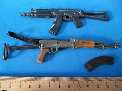 Hot 1/6 Weapons Dam Russian Rifle Spetsnaz Ak 47 & Ak 74 Lot Machinegun Toys
