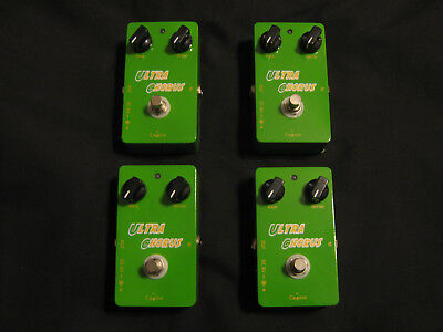 4 Caline CP-28 Ultra Chorus Guitar Pedals. Broader Tone With True Bypass