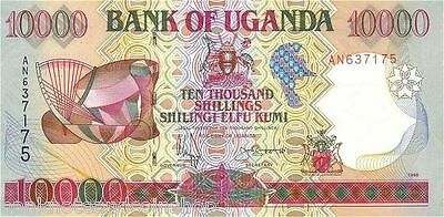 UGANDA █ 10000 10,000 Shillings █ 1995 █ P-38a █ UNC █ RARE FIRST ISSUE