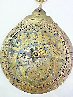 Vintage Antique Brass Persian Ottoman Turkey Astrolabe Arabic islamic Navigation