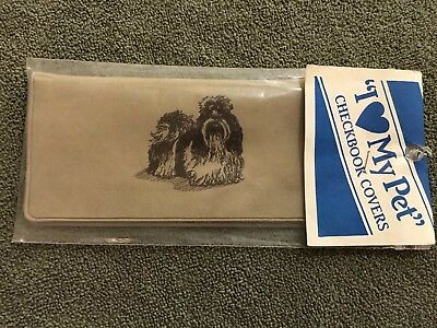 NEW VINTAGE Shih Tzu CHECKBOOK COVER in Original Wrapping