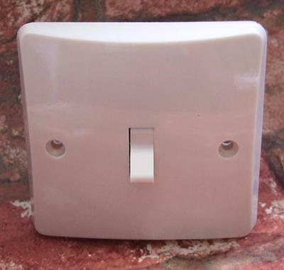 1 Gang 2 Way Restored Vintage Art Deco Ivorine Bakelite Flush Light Switch MK