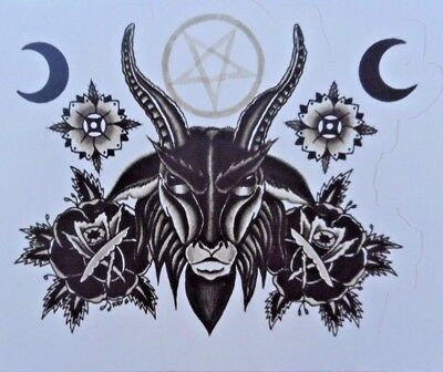 Baphomet Horned God Satanic Pagan Witchcraft Sticker Satanist Occult Pentagram