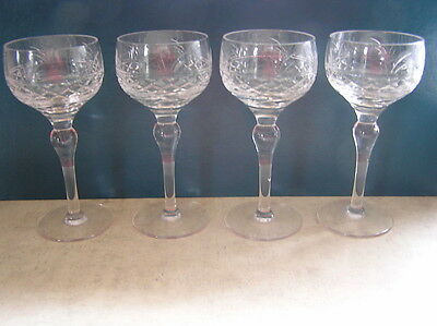 Stuart Crystal IMPERIAL Hock Wine Glass x 4
