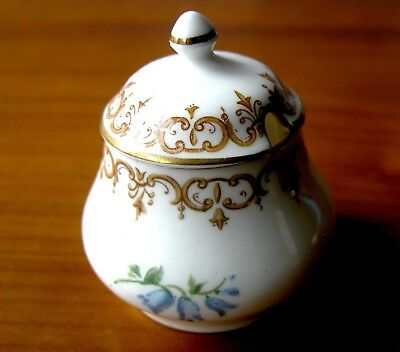 Vintage Crown Staffordshire England's Bouquet Mustard Pot or Jam Jar With Lid