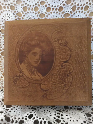 Vintage  Wooden Chocolate Candy Box ,gibson Girl Design