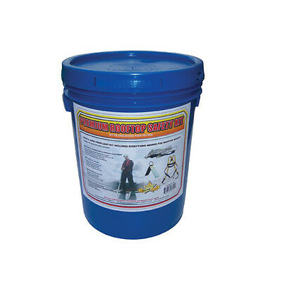 Fall Protection Premium Roof Safety Kit bucket, Harness, Rope, roofing fall