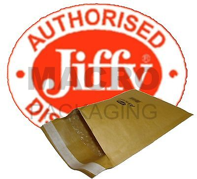 1000 'Jiffy' Bags Padded Envelopes JL6-(Gold)