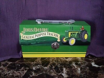 John Deere General Purpose Tractor Lunch Box/Tool Box/Tin Collectable Licenced