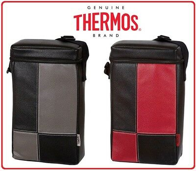 ❤ THERMOS Two Bottle BYO Insulated Cooler Compartments Bag Carry Picnic Wine ❤