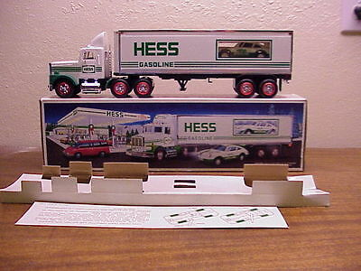 Vintage Hess Oil Co. 18 Wheeler & Racer~ 1992 ~ W/original Box~ Very Collectible