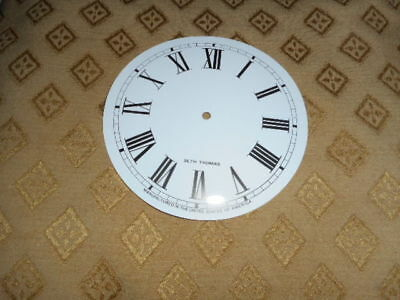 "For American Clocks- Round Seth Thomas Paper Clock Dial- 5"" M/T- Roman Numerals"