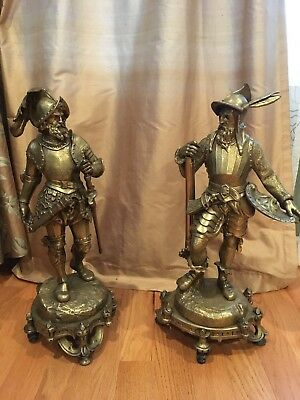 """Great Deal"" Pair of Large Antique (19th Century) Bronze  French Soldiers"