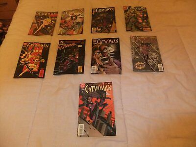 DC: catwoman- issues 9, 15, 17, 19, 23, 27, 46, 50 & 51- good condition