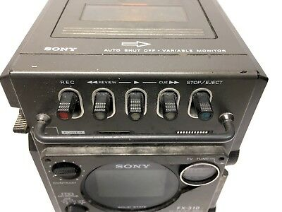 VTG Sony FX-310 TV FM /AM Receiver Cassette Radio Portable **UNTESTED