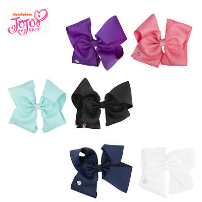 JoJo Siwa Girls Bows Large Coloured Plain Bow - Available in 6 Colours!