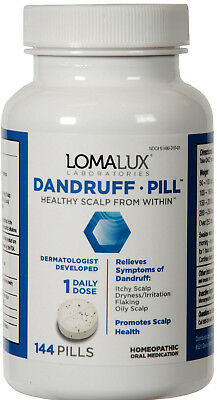 Dandruff Pill - Healthy Scalp From Within - 144 pills by Loma Lux