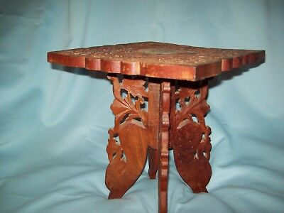 Antique Oriental Chinese Hand Carved Oriental Solid Wood Stool/ Stand Base