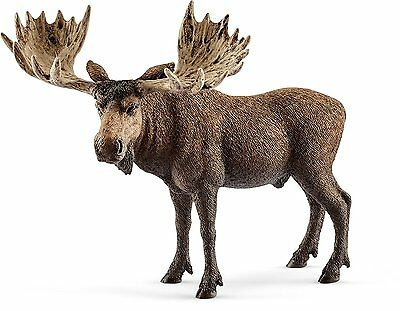 Schleich 14781 Moose Bull Wild Animal European Elk Model Toy Figurine 2017 - NIP