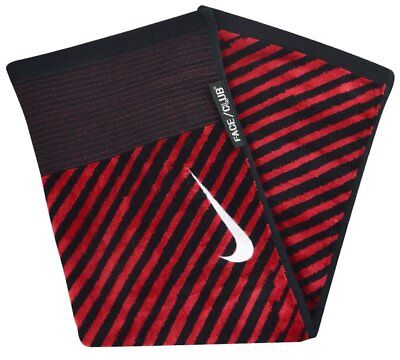 Nike Black and Red Jacquard Golf Towel - Golf Towel 61cms x 41cms