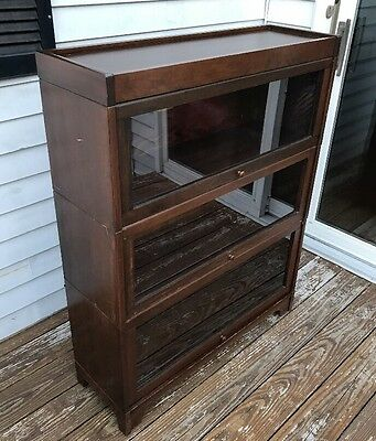 Antique Lundstrom Barrister Bookcase Three Stack, 5 Piece, Beautiful!