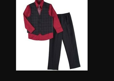 BOYS 4 pc. George SUIT new RED 4 , 5 , 6  , 8 ,  10 , 12