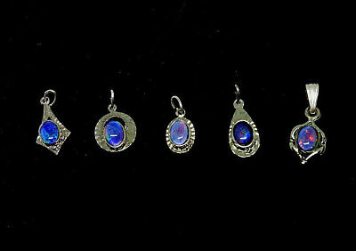 Silver Plated Genuine Coober Pedy Opal Triplet Pendant