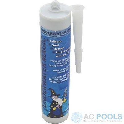 Underwater Magic Adhesive Glue & Sealant (White) 290ml Tube For Pool Repair